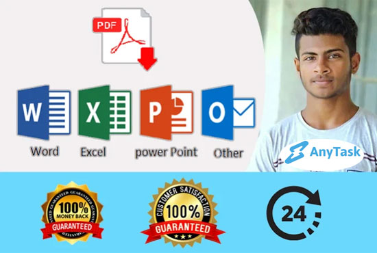 I will do convert pdf to word,  excel,  and etc