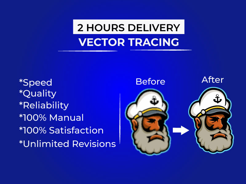 I will vector tracing,  redraw, recreate logo, image,  vectorise perfectly.