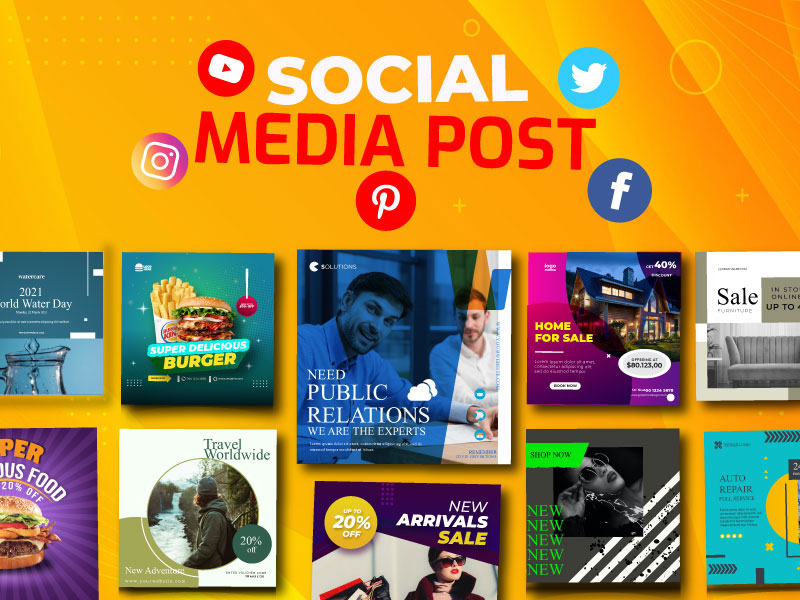 I will design attractive social media post,  cover,  banner