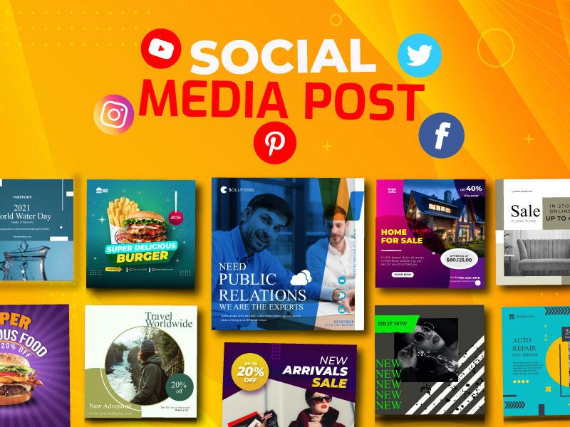 I will design attractive social media post, cover, banner