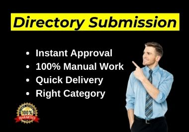 Manually 80 Live Web Directory Submissions on Instant Approve directories