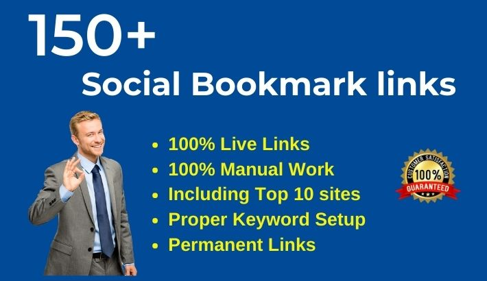 Get 150 Social Bookmarks Manually from authority Bookmarking sites