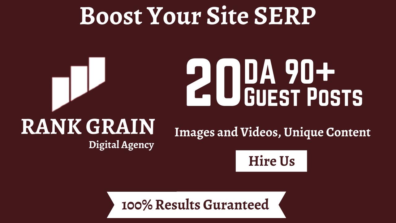 Publish High DA 90+ Guest Posts on 20 Websites