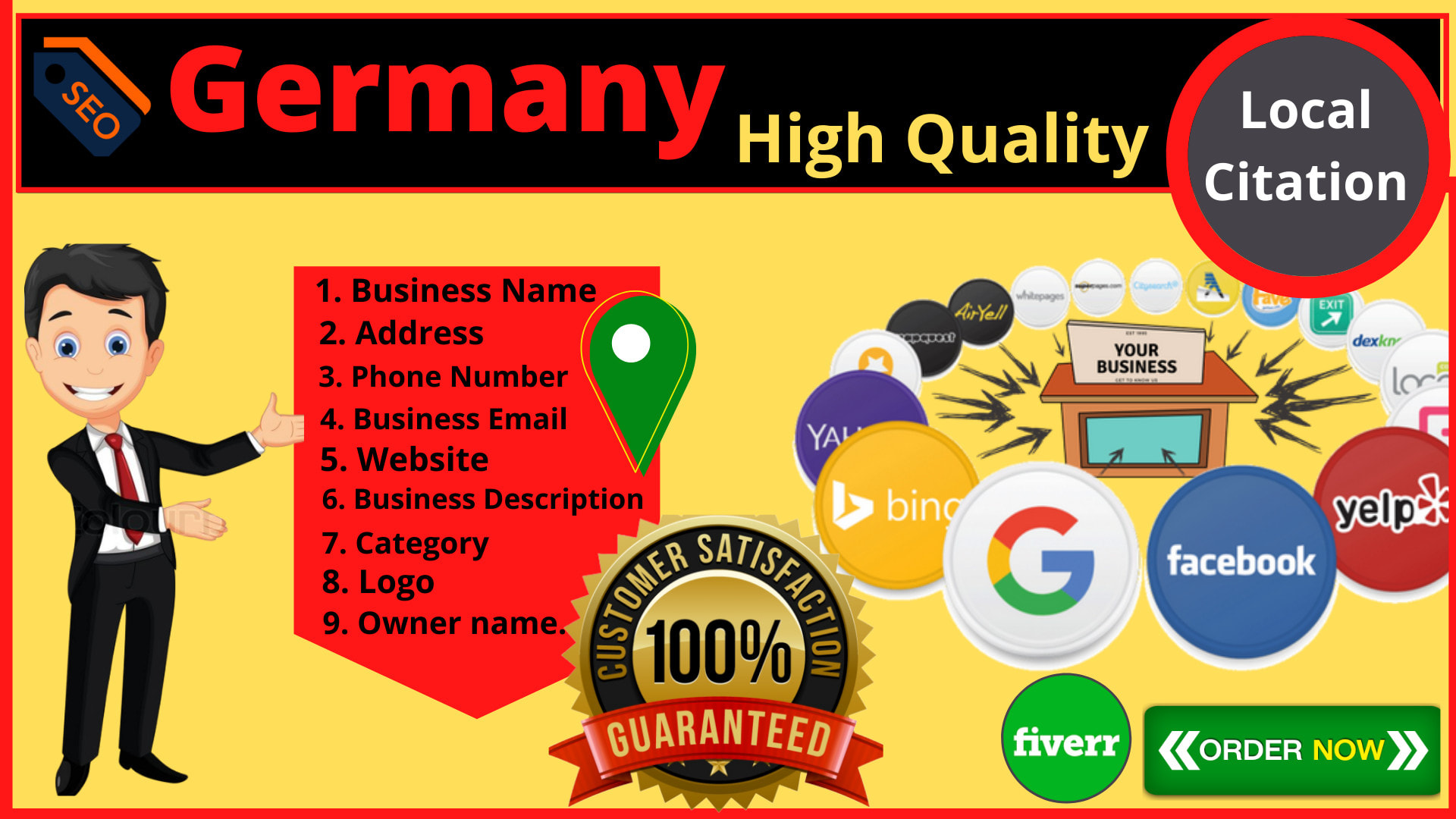 I will do 200 Germany local citations for your business directory