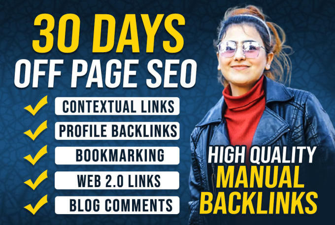 I will build white hat backlinks for monthly off page SEO service