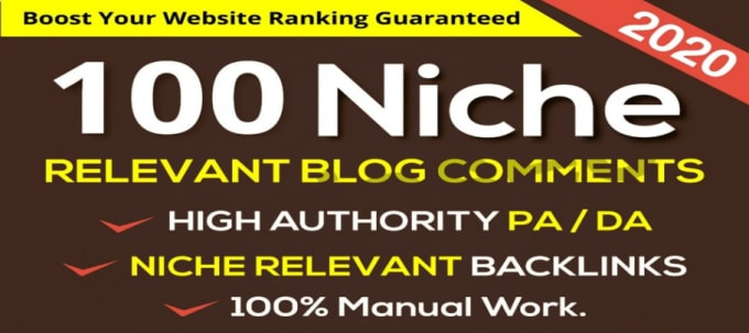 I will do 100 niche relevant blog comments SEO service backlinks
