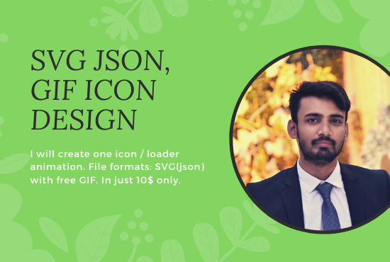 I will create json,  GIF animations,  icon and logo in lottie