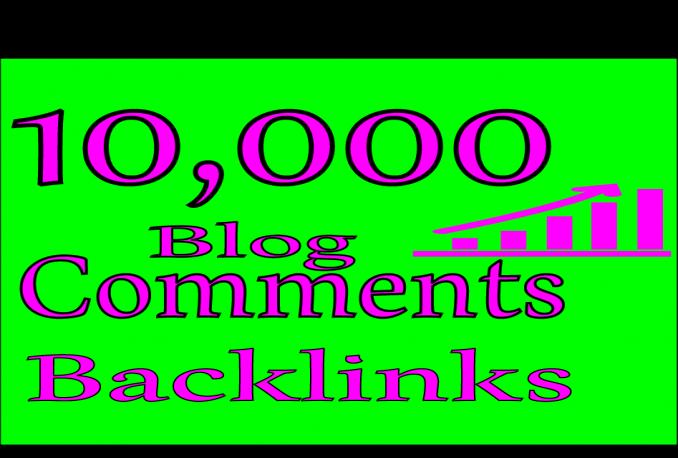 I'll create 10000 GSA blog comment backlinks for your website for google ranking