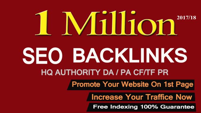 I'll create 1 million GSA SER backlink for your website for google rank