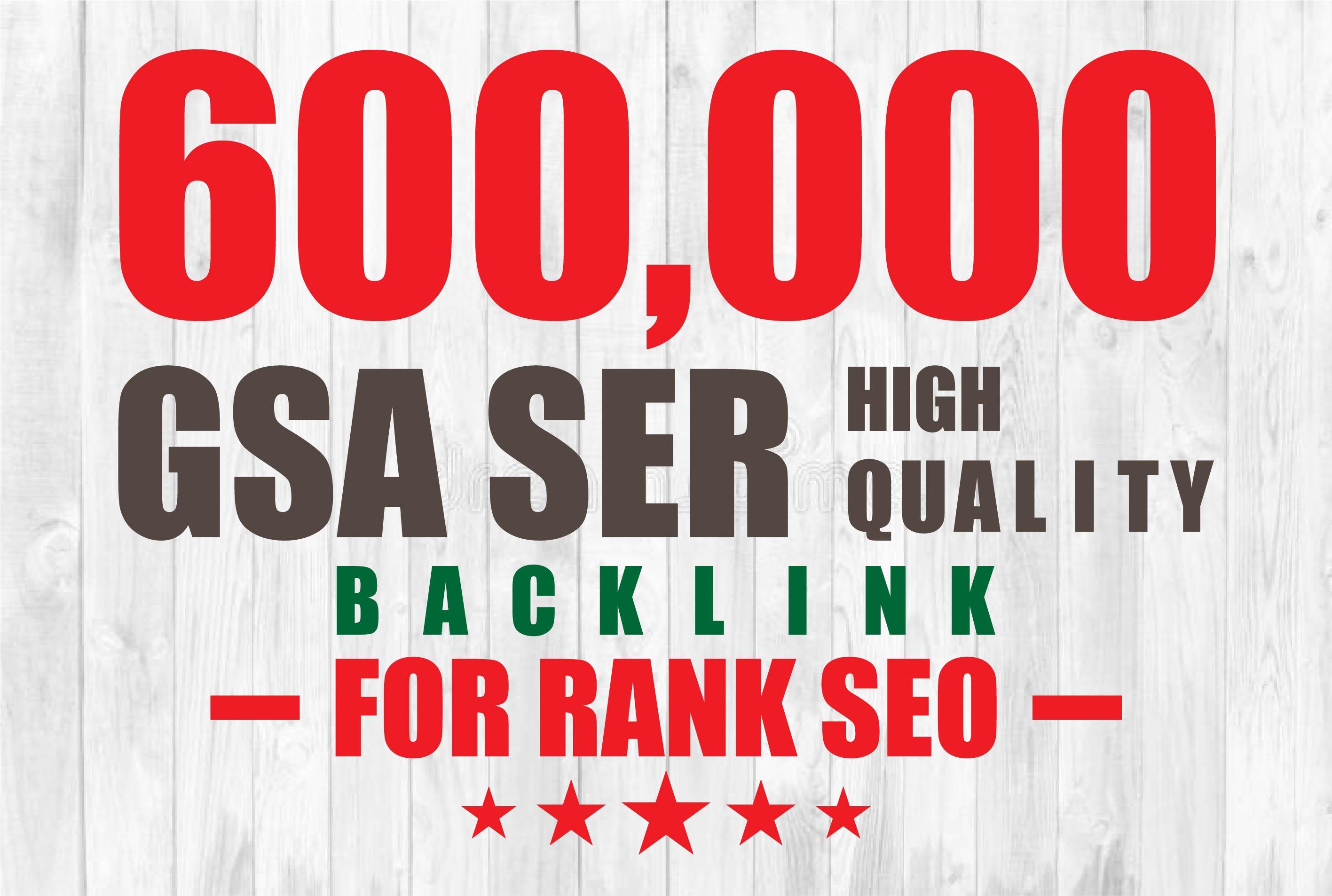 You can get 600k GSA Ser High Quality Backlinks For Rank your website, fabcebook page, youtube