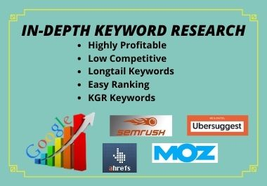 Will perform SEO Keyword Research & provide you easily rank able KGR Keyword