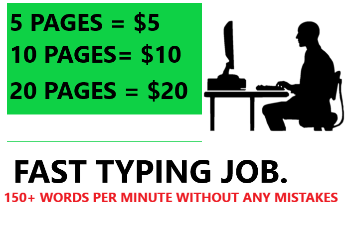I will do fast typing job,  retype any document to ms word