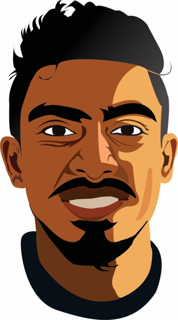 high quality vector art on your face