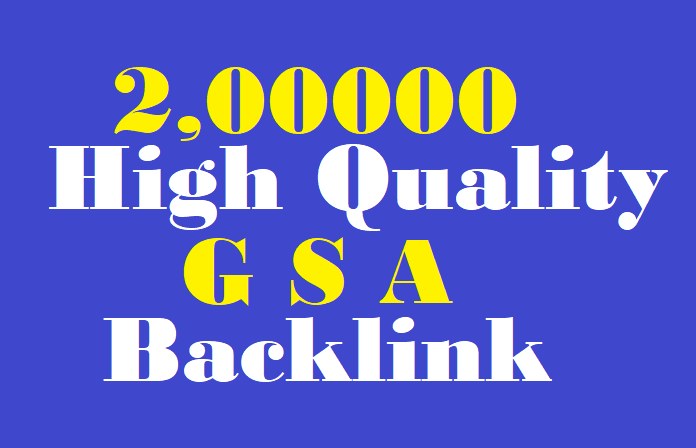 200,000 high quality GSA ser Backlinks to help rank on first page of Google