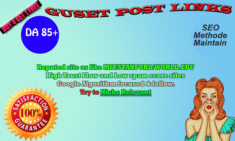 I will publish 20 guest post on High DA. EDU site