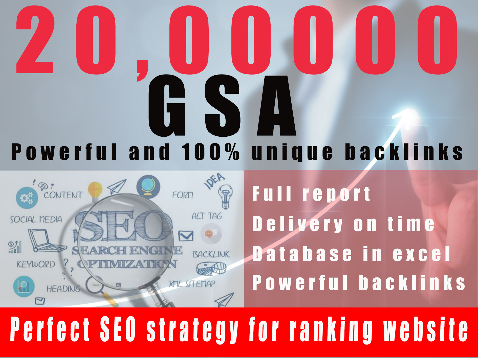 Build 2 million tier 2 or tier 3 backlinks for top ranking