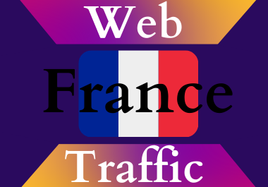 France traffic for 30 days Unlimited traffic low bounce google analytics traceable web traffic
