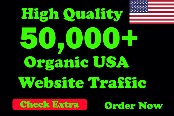 I will Drive 50,000 USA Keyword Targeted/Social Media Traffic To Your Website Within 1 Day.