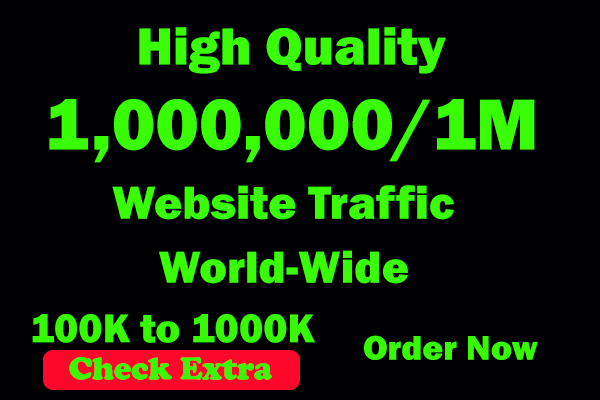 I will Drive 1,000,000 Worldwide 30 Days Keyword Targeted Low Bounce Rate Traffic To Your Website