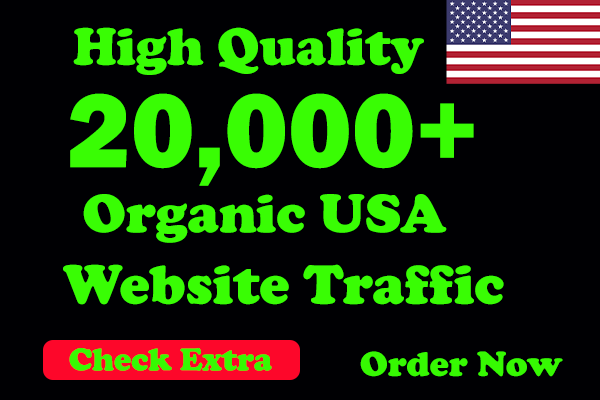 I will Drive 20,000 USA Keyword Targeted/Social Media Traffic To Your Website within 10Days.