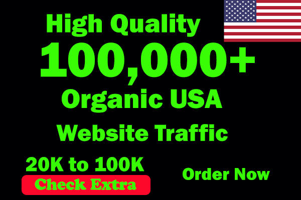 I will Drive 100,000 USA Keyword Targeted/Social Media Traffic To Your Website Within 30 Days.