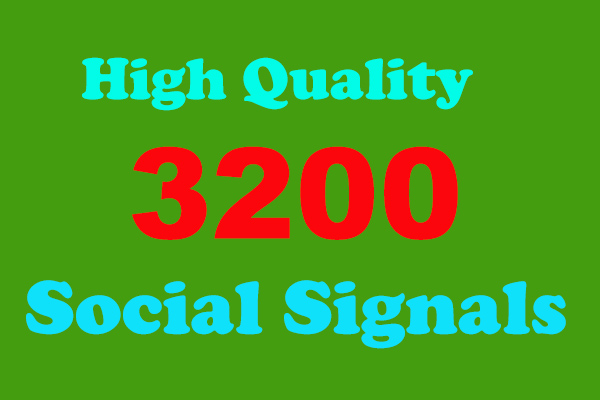 I will offer you 3200 high-quality social signals from the simplest social media site