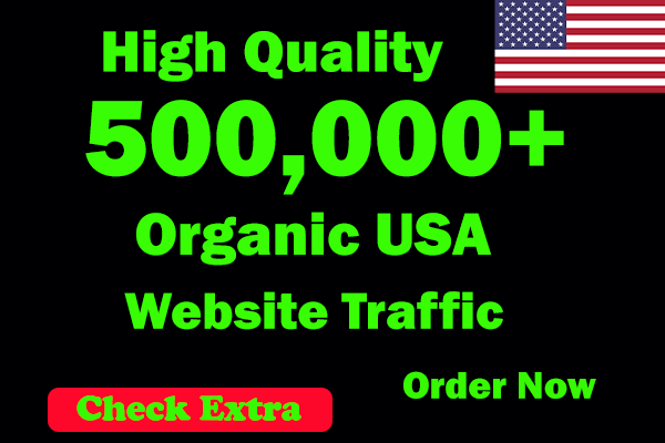 I Will Drive 500,000 USA Keyword Targeted/Social Media Traffic To Your Website within 30 Days.