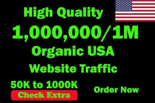 I will Drive 1 Million USA Keyword Targeted/Social Media Traffic To Your Website Within 30 Days.