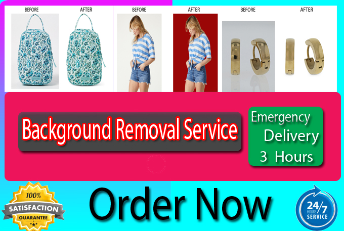 I can background removal,  photoshop work,  image editing service