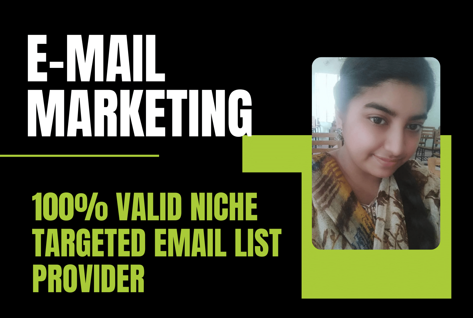 I will collect niche targeted active email list for business