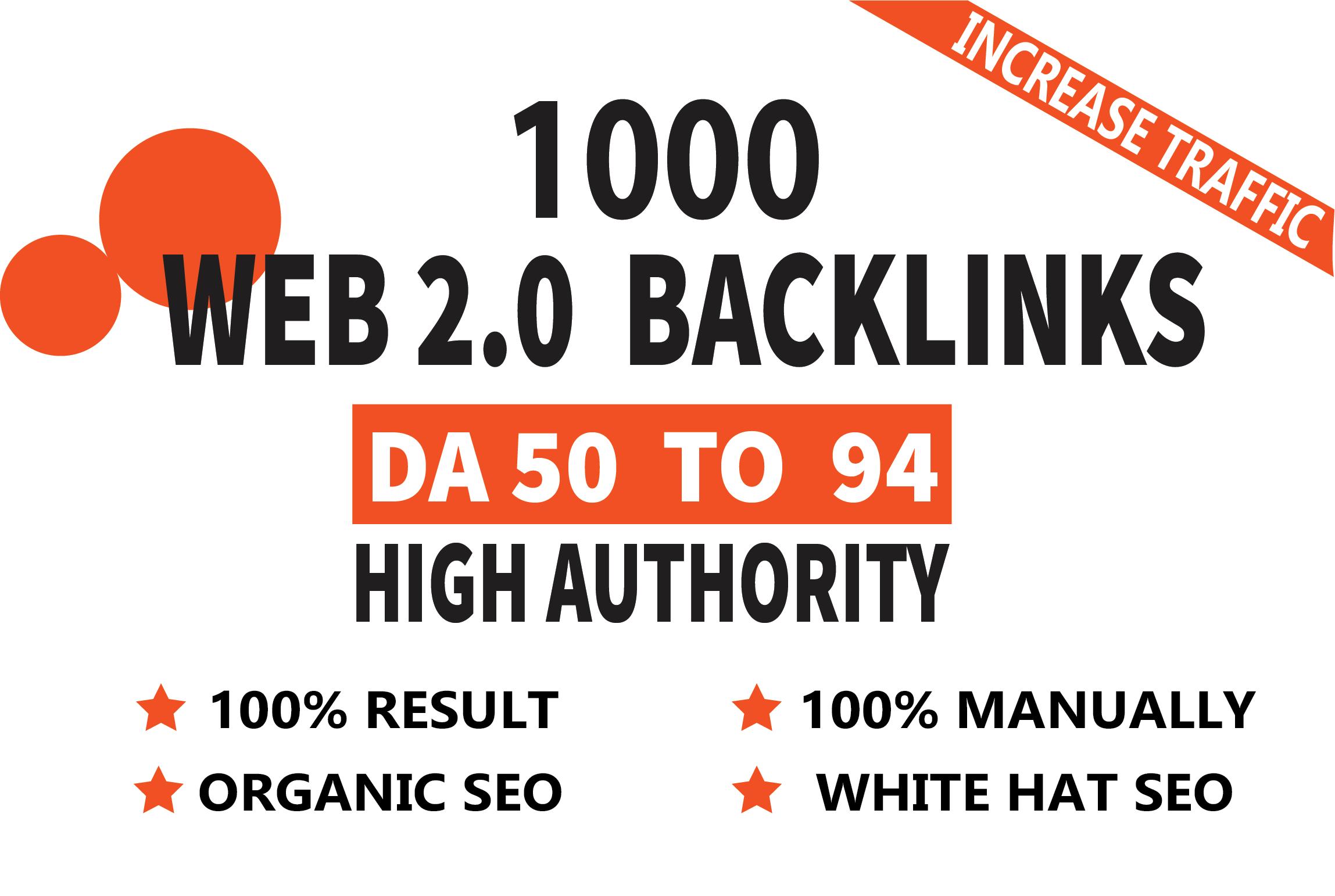 Get 1000 Web 2.0 High Quality Backlinks