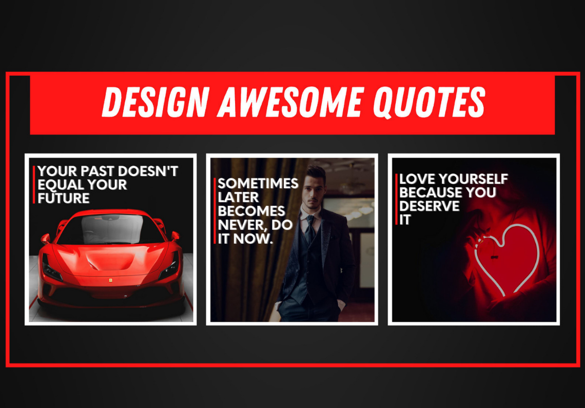 I will design awesome motivational, inspirational quotes with logo