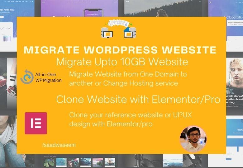 I will clone,  duplicate,  design,  redesign or migrate wordpress website