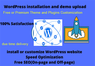 I will do WordPress installation,  Premium or free Theme and Demo upload,  Plugins and Addons setting.