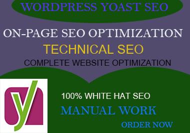 I will optimize wordpress websites using yoast or rank math seo with schema markup