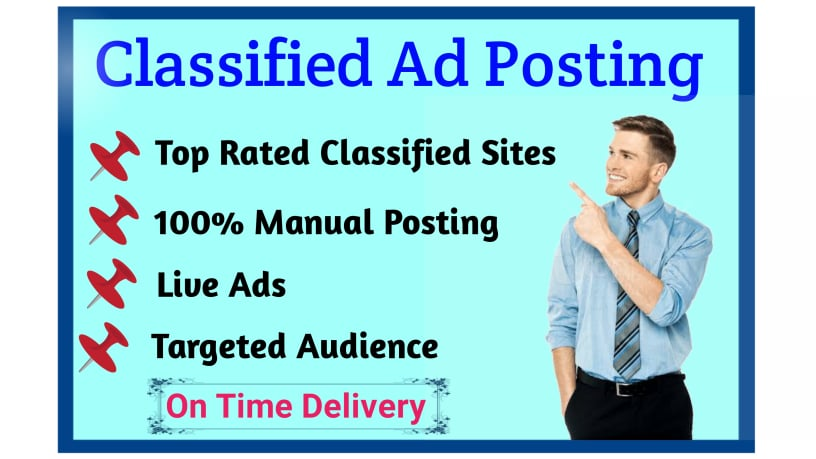 I will do classified ads posting for you within 24 hours.