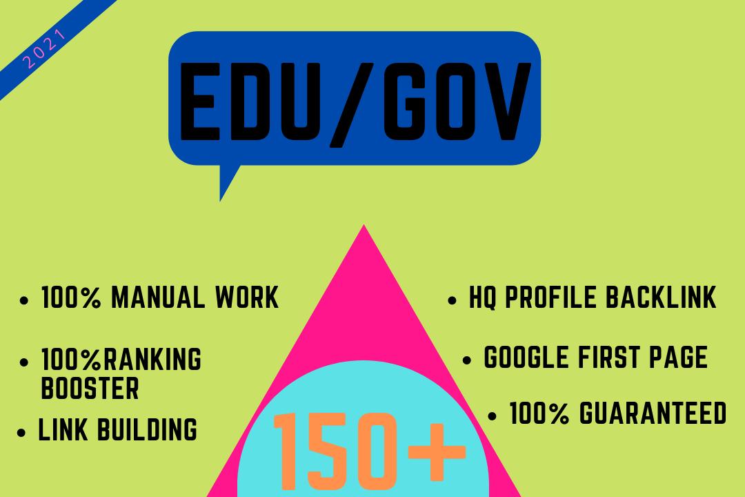 Rank your website on Google with 150+ HQ EDU/GOV Manual Backlink