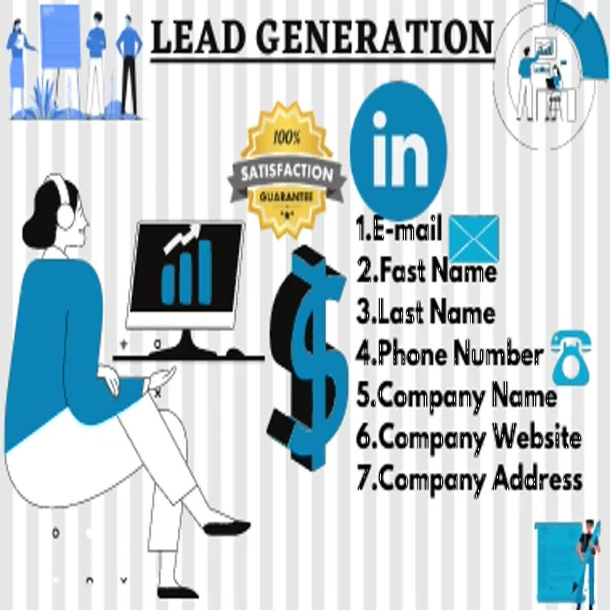 I will let you b2b leads generation and prospecting email list finding out