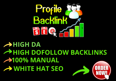 I will create 150 High DA Profile Backlink.