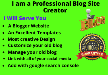 I Will Create a Perfect and Beautiful Blog Site