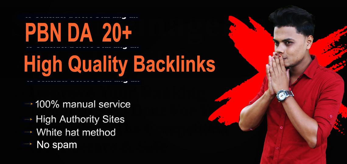 Build 10 PBN DA 20+ Homepage Backlinks