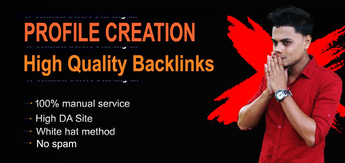 I will create 60 High Quality profile creation seo backlinks