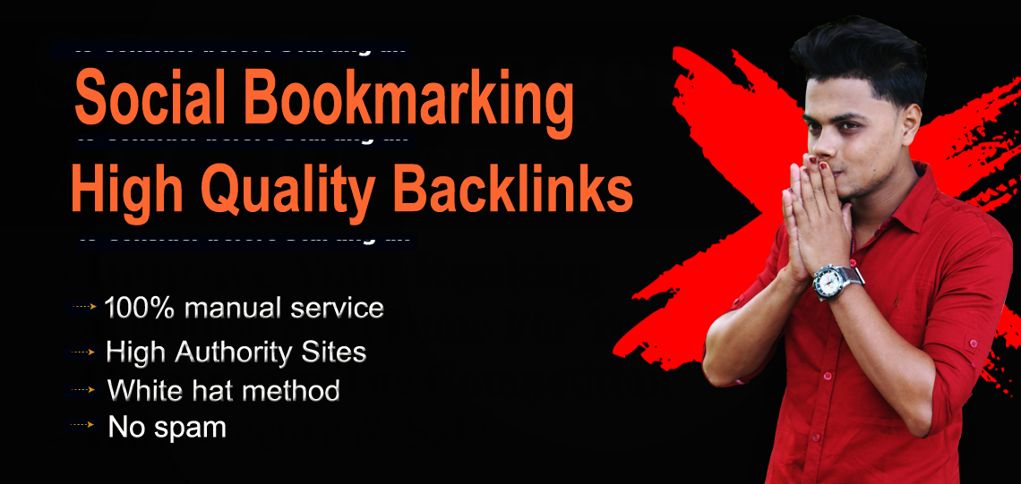 I will create social bookmarking dofollow SEO Backlinks on high Authority sites