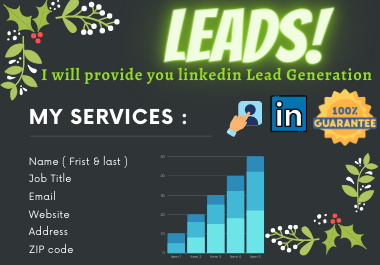 I will provide you B2B targeted linkedin lead generation