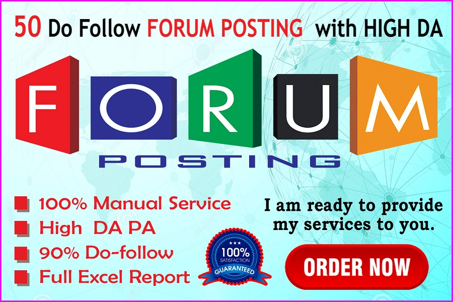 I will post 50 do follow forum with High DA