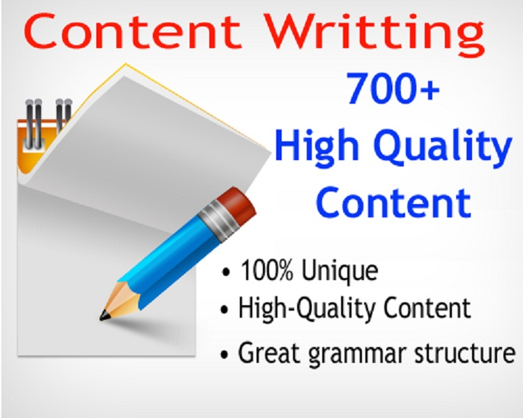 I will write 700+ High Quality Unique content.