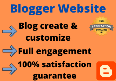 I will design an awesome blogger website and full customize