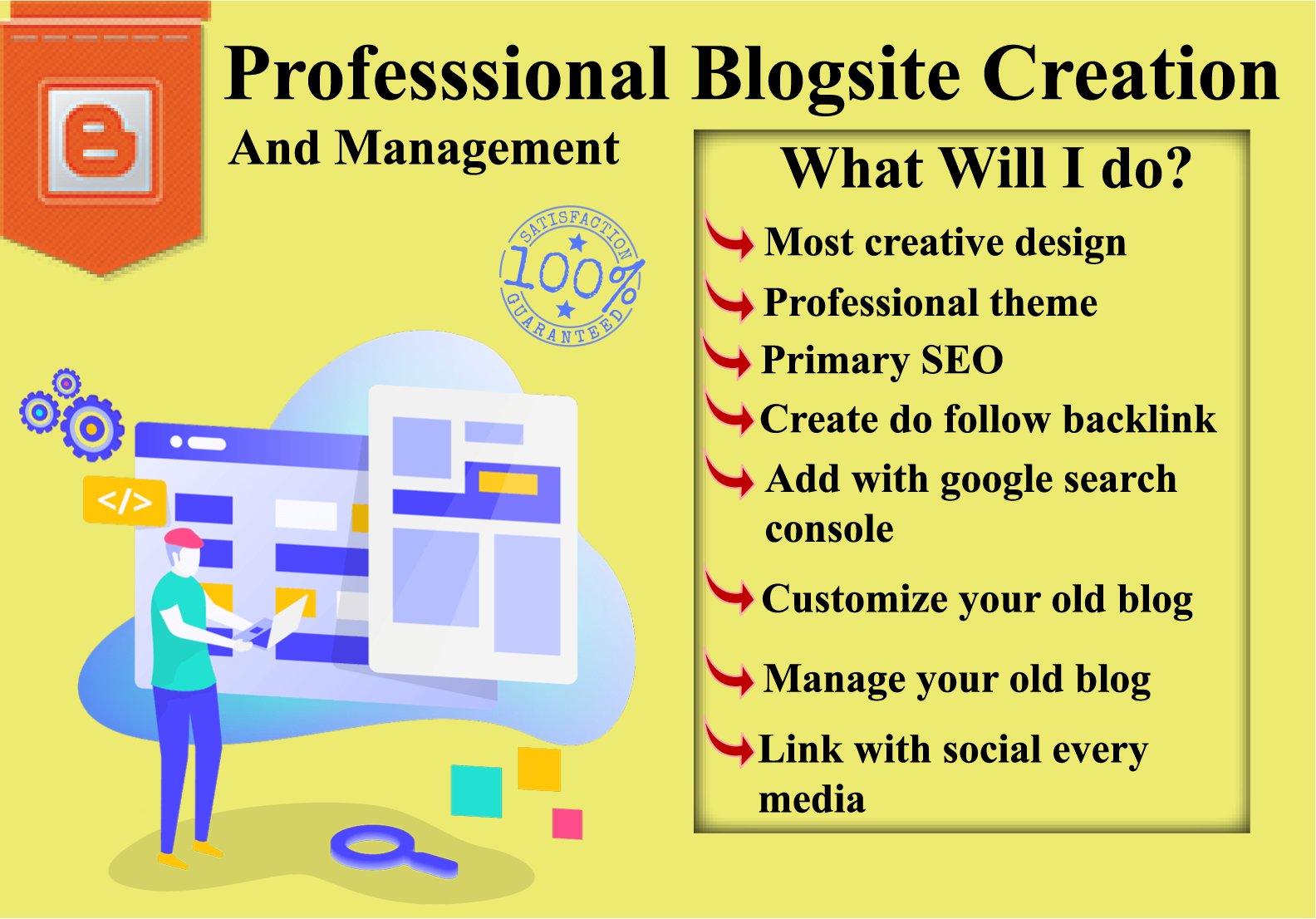 I will provide you a professional blogging website.