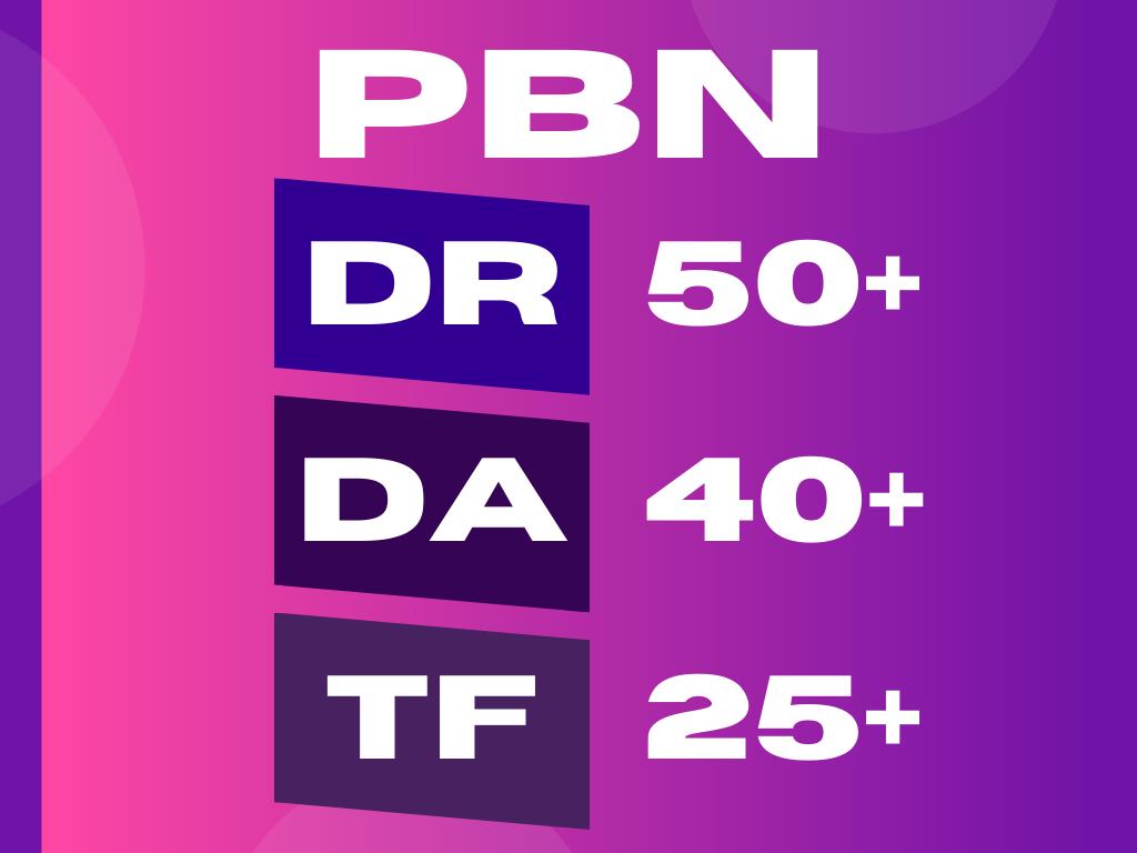DA 40/ DR 50/ TF 25 - PBN Homepage Dofollow Links.