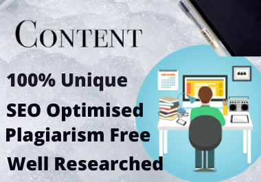 1000+ words SEO Optimised Content Writing